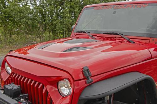 Rough Country Suspension - 10525 | Jeep Vented Performance Hood (2007-2018 JK Wranlger)