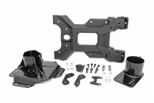 Rough Country Suspension - 10523 | HD Hinged Spare Tire Carrier (2007-2018 JK Wranlger)