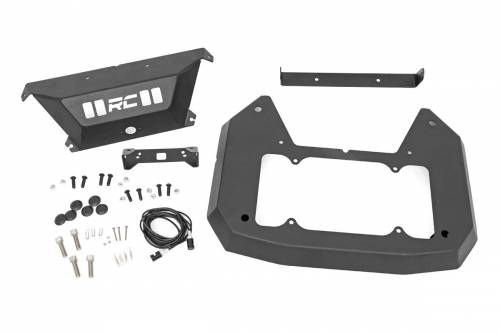 Exterior - Bumpers & Tire Carriers - Rough Country Suspension - 10560 | Jeep Spare Tire Delete Kit