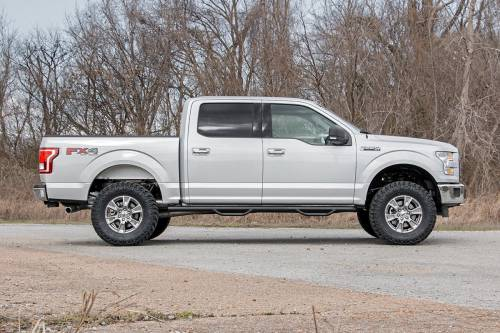Rough Country Suspension - 54570 | 3 Inch Ford Bolt On Arm Lift Kit w/ Lifted Struts, V2 Monotube Shocks - Image 4