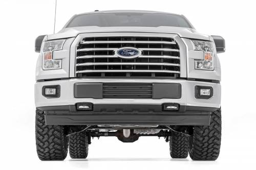 Rough Country Suspension - 54570 | 3 Inch Ford Bolt On Arm Lift Kit w/ Lifted Struts, V2 Monotube Shocks - Image 2