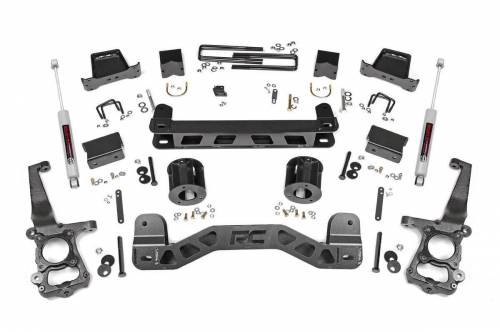 Rough Country Suspension - 55330 | 6 Inch Ford Suspension Lift Kit w/ Premium N3 Shocks