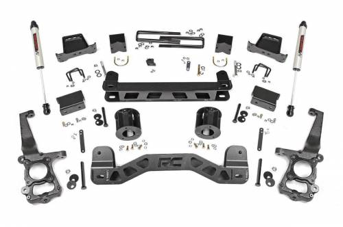 Rough Country Suspension - 55370 | 6 Inch Ford Suspension Lift Kit w/ V2 Monotube Shocks