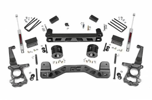 Rough Country Suspension - 55130 | 4 Inch Ford Suspension Lift Kit w/ Premium N3 Shocks