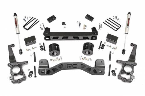 Rough Country Suspension - 55175 | 4 Inch Ford Suspension Lift Kit w/ V2 Monotube Shocks
