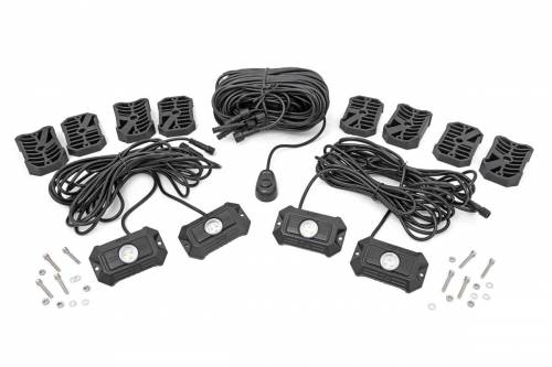 Lighting - Off-Road LED Lights - Rough Country Suspension - 70980 | Deluxe LED Rock Light Kit