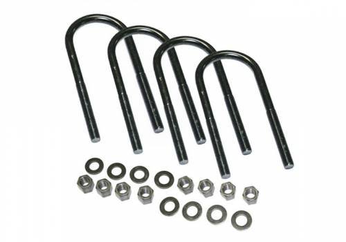 Suspension Components - Block & U Bolt Kits - SuperLift - 11724 | 4 Pack Large Radius U Bolts w/ Hardware