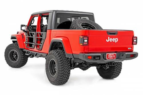 Exterior - Side Steps & Running Boards - Rough Country Suspension - 90762 | Jeep Contoured Drop Step