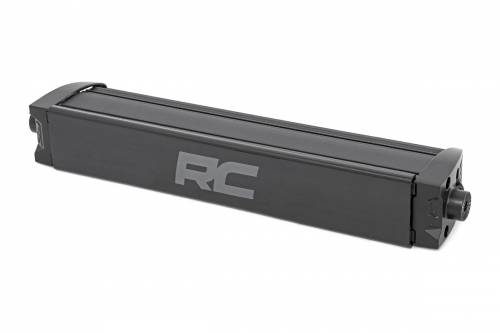 Lighting - Off-Road LED Lights - Rough Country Suspension - 70712BLDRL | 12 Inch CREE LED Light Bar | Black Series w/ Cool White DRL