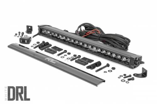 Lighting - Off-Road LED Lights - Rough Country Suspension - 70720BLDRL | 20 Inch CREE LED Light Bar | Black Series w/ Wool White DRL