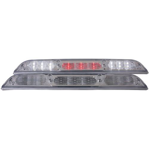 Lighting - LED Third Brake Lights - Anzo USA - 531106 | Ford LED 3rd Brake Light - Clear Lens, Chrome Housing